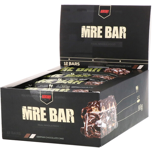MRE Bar, German Chocolate Cake, 12 Bars, 2.36 oz (67 g) Each