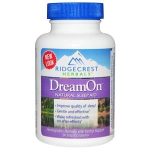 Ридж Крэст Хербалс, DreamOn, Natural Sleep Aid, 60 Vegan Caps отзывы