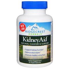 RidgeCrest Herbals, 腎臟補充劑,60 粒素食膠囊