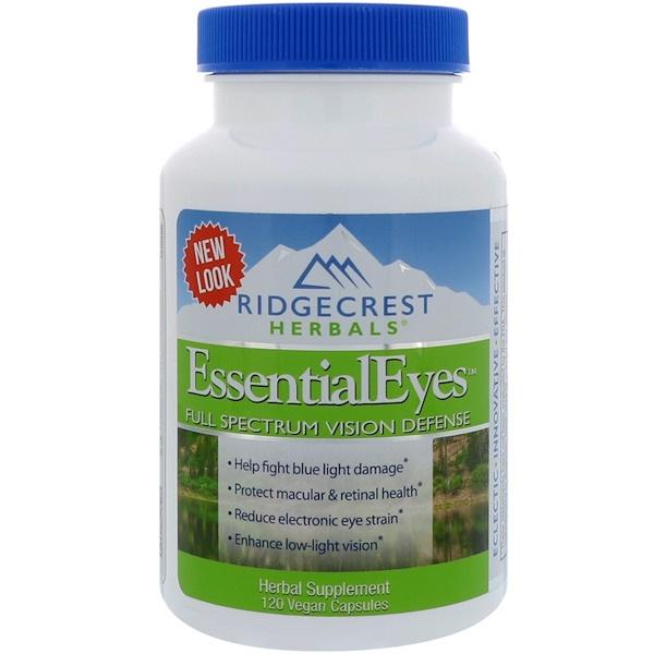 RidgeCrest Herbals, EssentialEyes, 120 Cápsulas Veganas (Discontinued Item)