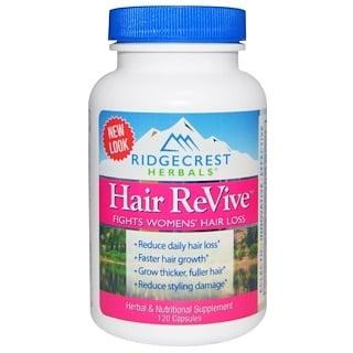 RidgeCrest Herbals, Hair ReVive, 120 капсул