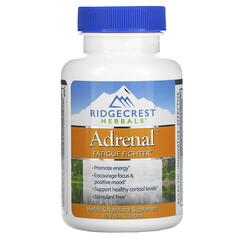 RidgeCrest Herbals, 腎上腺,舒緩疲勞,60 粒素食膠囊