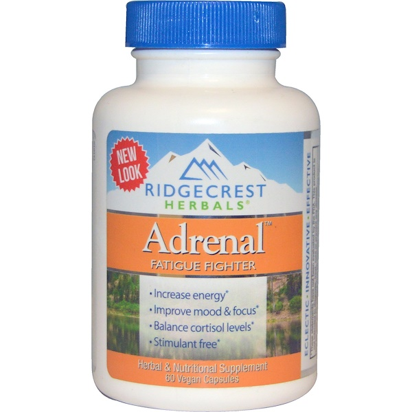 RidgeCrest Herbals, Adrenal, Fatigue Fighter, 60 Vegan Caps