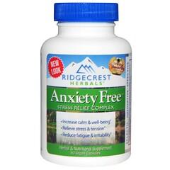 RidgeCrest Herbals, 焦慮,壓力釋放配方,60素食膠囊