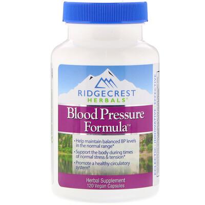Купить RidgeCrest Herbals Формула кровяного давления, 120 вегетарианских капсул