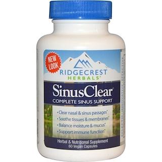 RidgeCrest Herbals, Sinus Clear, 60 Veggie Caps