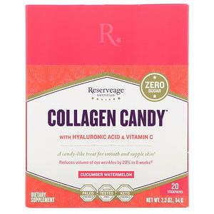 Резервеаге Нутритион, Collagen Candy, Cucumber Watermelon, 20 Stickpacks, 2.3 oz (64 g) отзывы