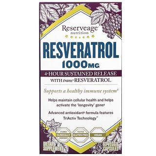 ReserveAge Nutrition, Resveratrol with Trans-Resveratrol, 500 mg, 60 Veggie Capsules
