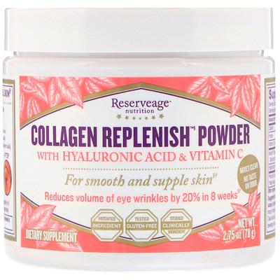коллагеновый порошок Replenish с гиалуроновой кислотой и витамином С, 78 г (2,75 унции) шампунь коллагеновый kativa