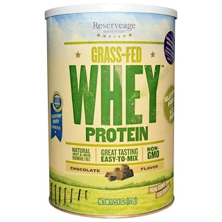 ReserveAge Nutrition, Grass-Fed Whey Protein, Chocolate Flavor, 25.4 oz (720 g)