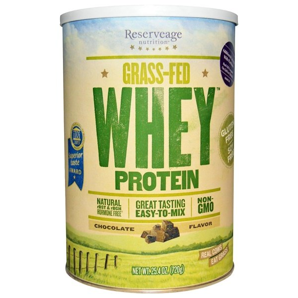 ReserveAge Nutrition, Grass-Fed Whey Protein, Chocolate Flavor, 25.4 oz (720 g) (Discontinued Item)
