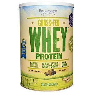 Резервеаге Нутритион, Grass-Fed Whey Protein, Chocolate Flavor, 1.58 lbs (720 g) отзывы