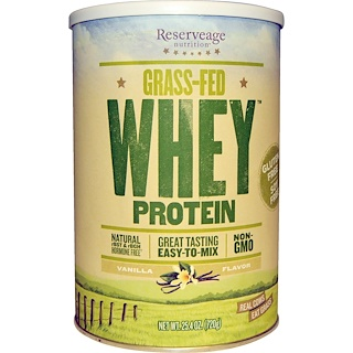 ReserveAge Nutrition, Grass-Fed Whey Protein, Vanilla Flavor, 25.4 oz (720 g)