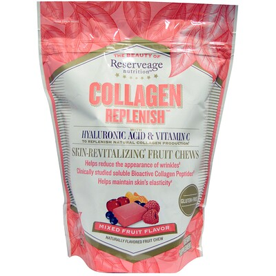 Collagen Replenish, фруктовый вкус, 60 жевательных конфет недорого