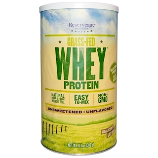 ReserveAge Nutrition, Grass-Fed Whey Protein, Unflavored, 11.1 oz (316 g)