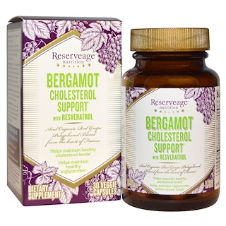 ReserveAge Nutrition, Bergamot Cholesterol Support with Resveratrol, 30 Veggie Caps