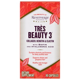 ReserveAge Nutrition, Tres Beauty 3, 90개 캡슐