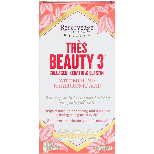 ReserveAge Nutrition, Tres Beauty 3, 90 كبسولة