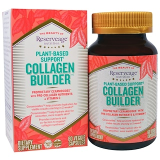 ReserveAge Nutrition, Generador de colágeno, Soporte a base de plantas, 60 cápsulas vegetales