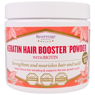 ReserveAge Nutrition, Keratin Hair Booster Powder with Biotin, 2.75 oz (78 g)