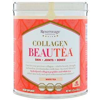 ReserveAge Nutrition, Collagen Beautea, White Tea, 48 Tea Bags