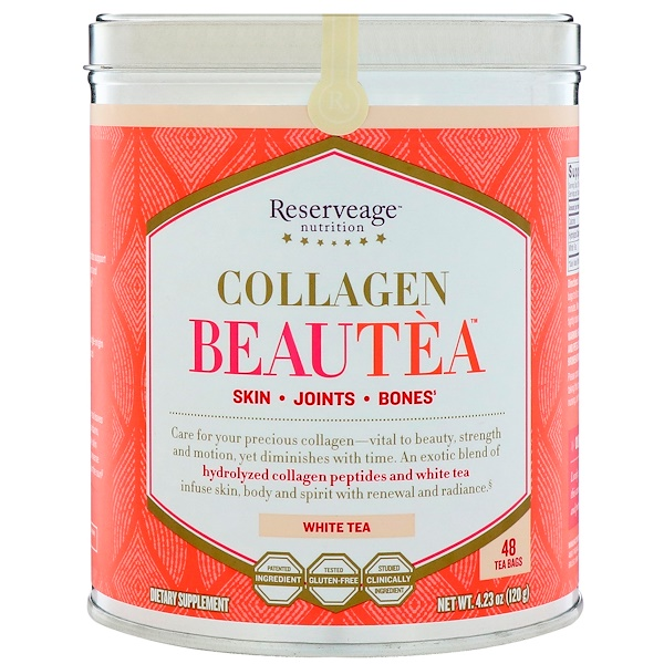ReserveAge Nutrition, Collagen Beautea, White Tea, 48 Tea Bags (Discontinued Item)
