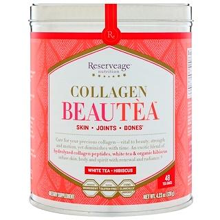 ReserveAge Nutrition, Collagen Beautea, White Tea + Hibiscus, 48 Tea Bags