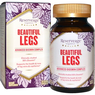 ReserveAge Nutrition, Beautiful Legs, Advanced Diosmin Complex, 30 Veggie Caps