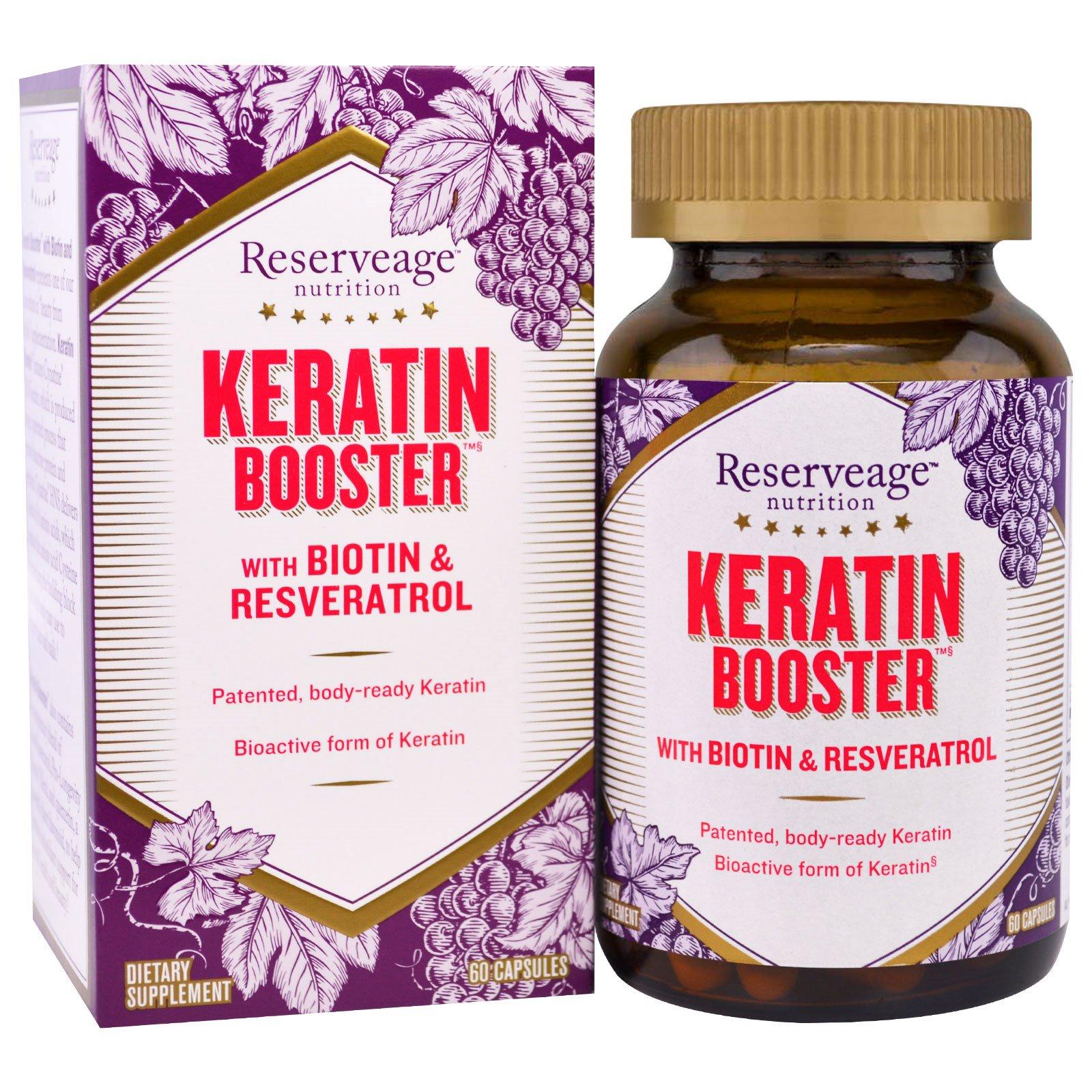 ReserveAge Nutrition, Кератин усилитель 60 овощных капсул