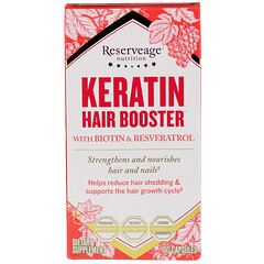 ReserveAge Nutrition, Keratin Hair Booster, With Biotin & Resveratrol, 60 Capsules