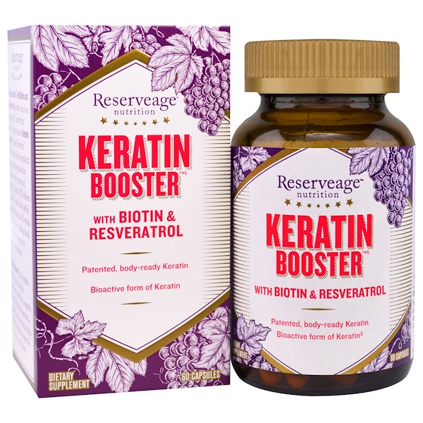 ReserveAge Nutrition, Keratin Hair Booster, 60 Capsules