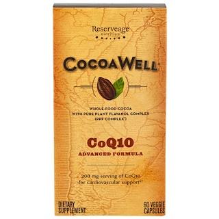 ReserveAge Nutrition, ココアウェル、CoQ10、アドバンスドフォーミュラ、60ベジキャップ