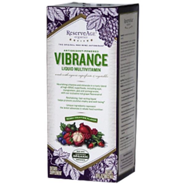 ReserveAge Nutrition, Vibrance Liquid Multivitamin, Antioxidant-Powered, Berry Fruition Flavor, 30 fl oz (887.2 ml) (Discontinued Item)