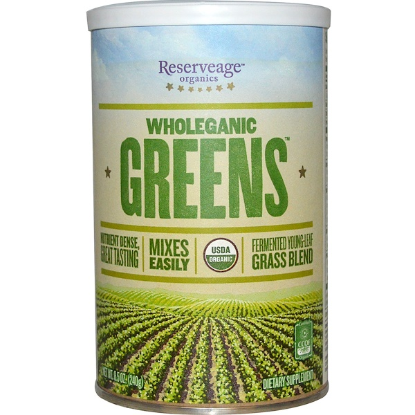 ReserveAge Nutrition,  Wholeganic Greens, 8.5 oz (240 g) (Discontinued Item)