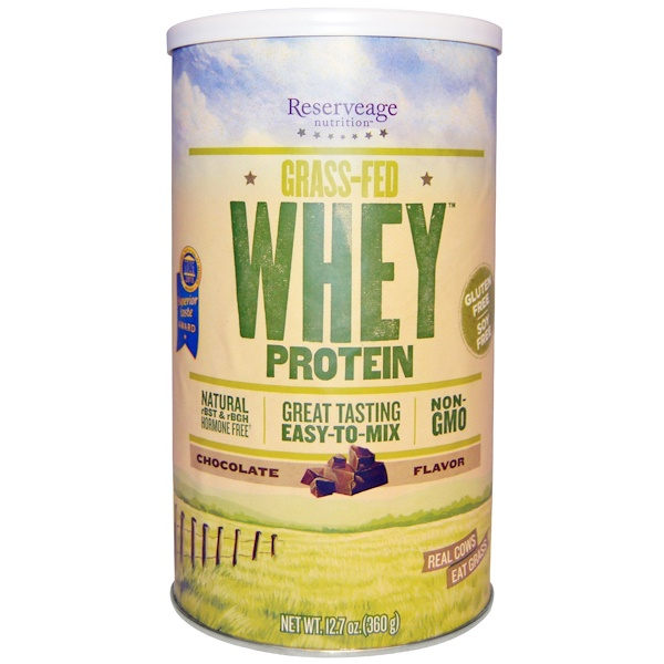 ReserveAge Nutrition, Grass-Fed Whey Protein, Chocolate Flavor, 12.7 oz (360 g) (Discontinued Item)