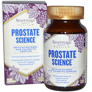 ReserveAge Nutrition, Prostate Science, 60 Veggie Caps