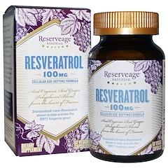 ReserveAge Nutrition, レスベラトロール、100 mg、60ベジカプセル