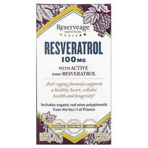 Резервеаге Нутритион, Resveratrol, 100 mg, 60 Veggie Capsules отзывы покупателей