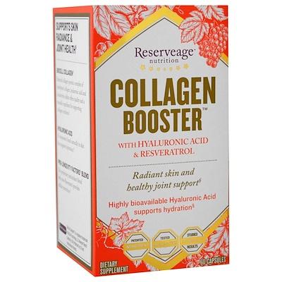 Collagen Booster с гиалуроновой кислотой и ресвератролом, 60 капсул moistfull collagen