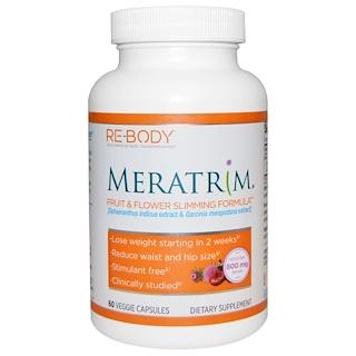 Rebody Safslim, Meratrim, Fruit & Flower Slimming Formula, 60 Veggie Caps