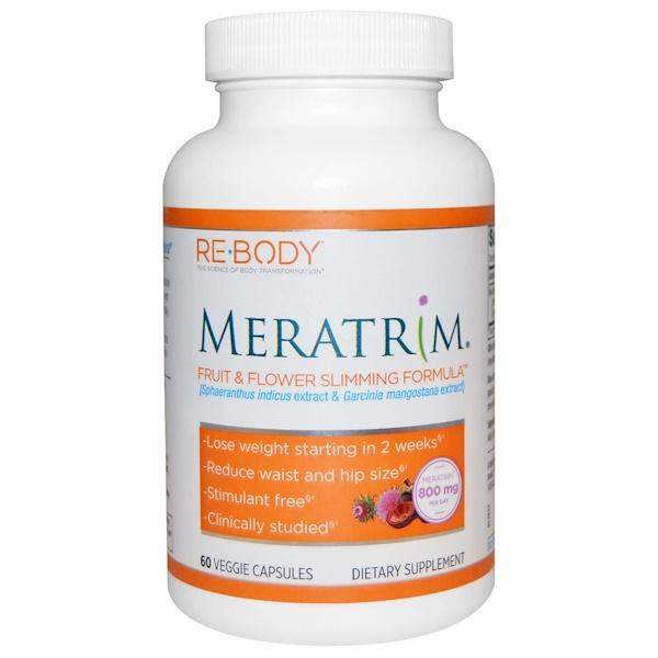Rebody Safslim, Meratrim, Fruit & Flower Slimming Formula, 60 Veggie Caps (Discontinued Item)