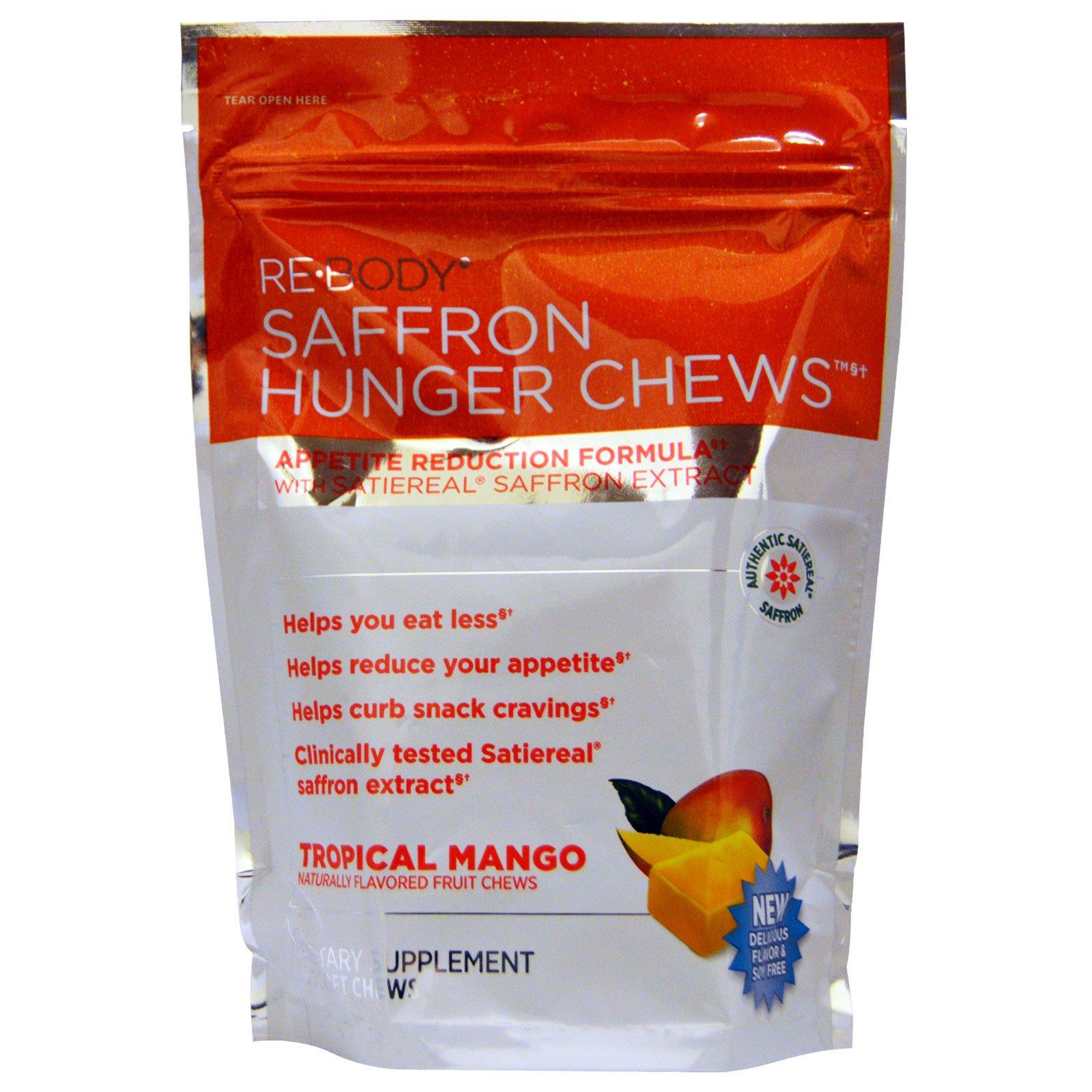 Rebody Safslim Saffron Hunger Chews Tropical Mango 30 Soft