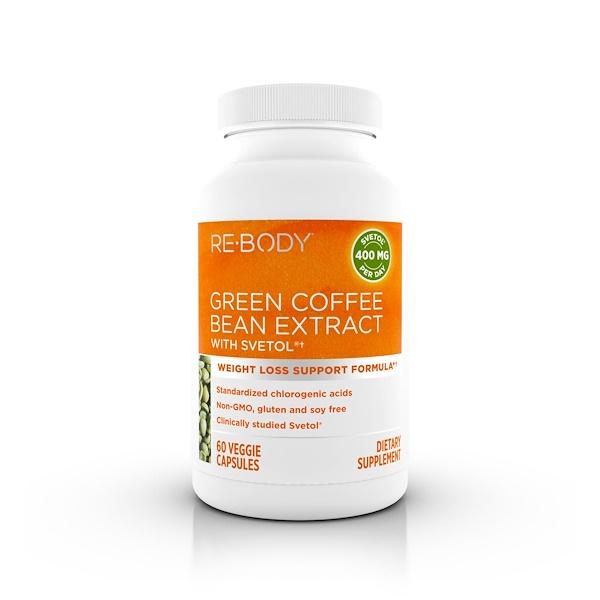 Rebody Safslim, Green Coffee Bean Extract with Svetol, 60 Veggie Caps (Discontinued Item)