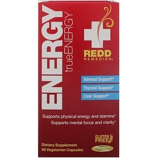 Redd Remedies, Energy, TrueEnergy, 50 Vegetarian Capsules