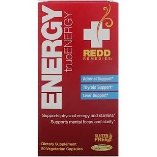 Redd Remedies, الطاقة، الطاقة الحقيقية، 50 كبسولة نباتية