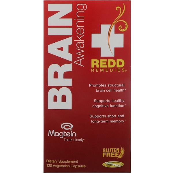 Redd Remedies, Brain Awakening, 120 Vegetarian Capsules