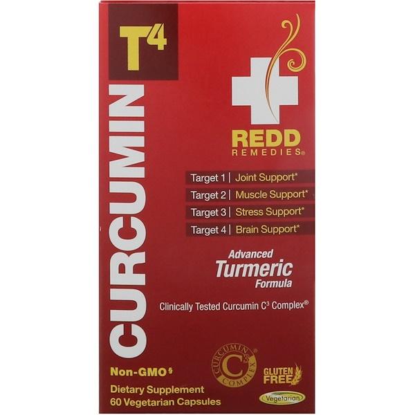 Redd Remedies, 薑黃素T4,60粒素食膠囊