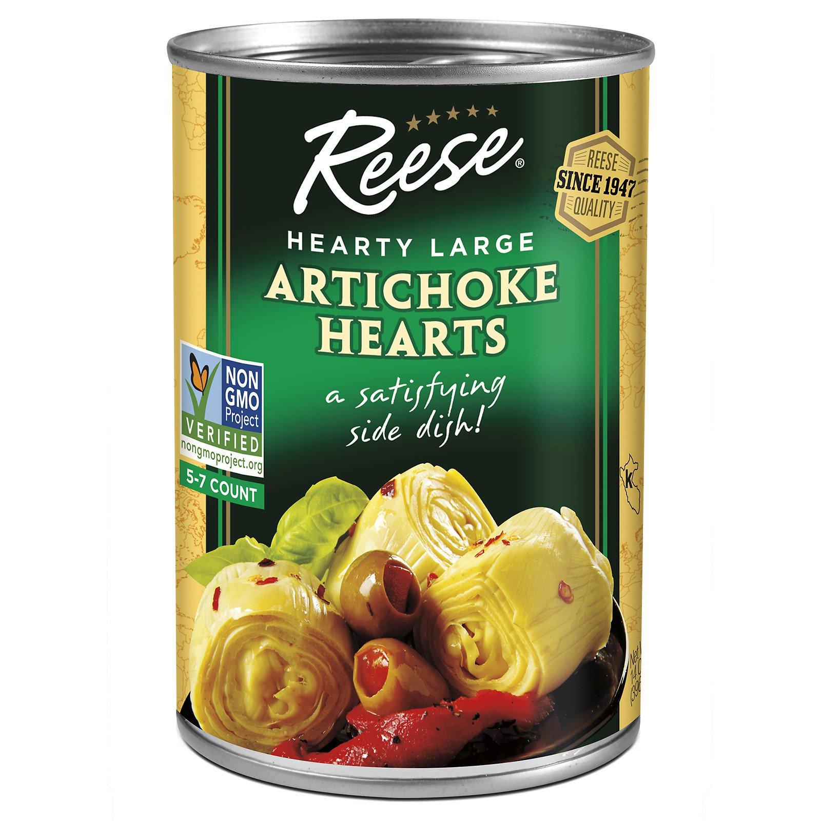 Reese, Артишоки, 5-7 большой размер, 14 унций (396 г)