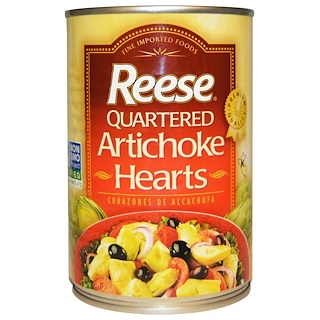 Reese, Quartered Artichoke Hearts, 14 oz (396 g)