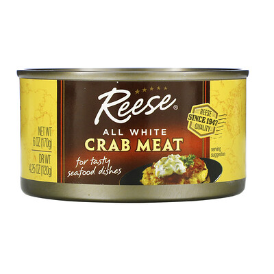 Купить Reese All White Crab Meat, 6 oz (170 g)